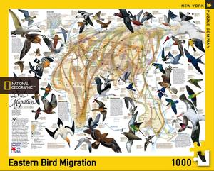 National Geographic Map eastern bird migration is a 1000 Piece Jigsaw Puzzle. Made in USA. Recommended Age: 7+ Years