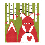 fox swedish dishcloth:  biodegradable & compostable dishcloth made of 70% cellulose/30% cotton & water-based inks
