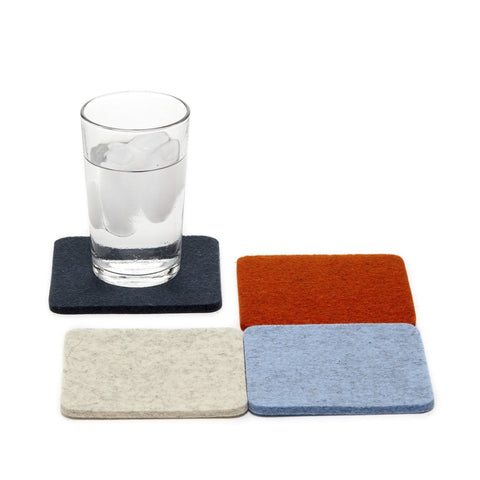 graf lantz colorful dawn felted wool coasters. made in CA USA