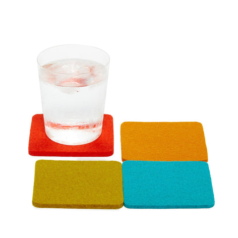 graf lantz colorful palm springs felted wool coasters. made in CA USA