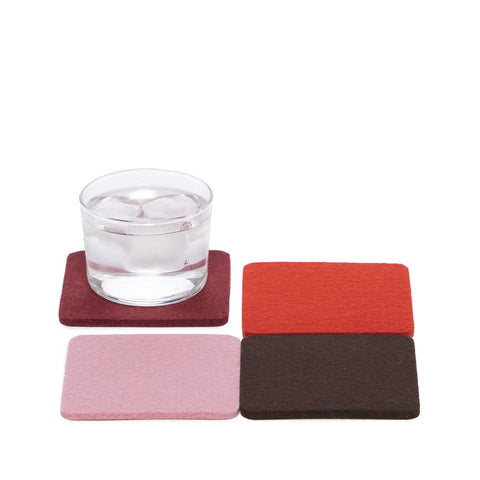 graf lantz colorful rouge felted wool coasters. made in CA USA