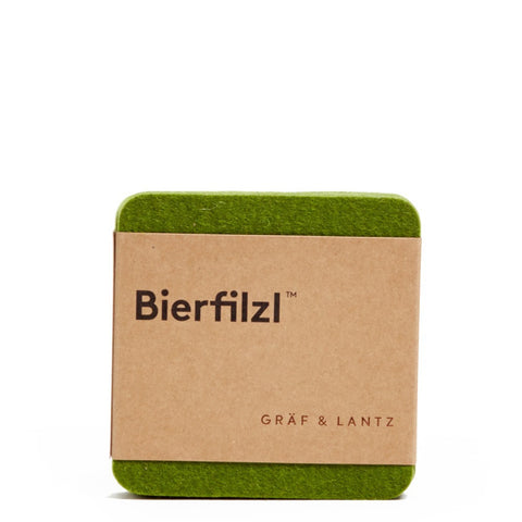 graf lantz colorful loden green felted wool coasters. made in CA USA