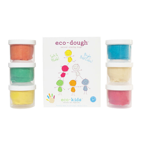 eco-kids eco-dough 6-pack 4274R-6pk, original natural play dough-like product made with natural ingredients
