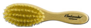 ambassador wooden baby hairbrush made in germany with natural boar bristles