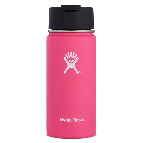 watermelon 16 oz wide mouth hydro flask bottle keeps liquids cold for up to 24 hours and hot up to 6. bpa-free