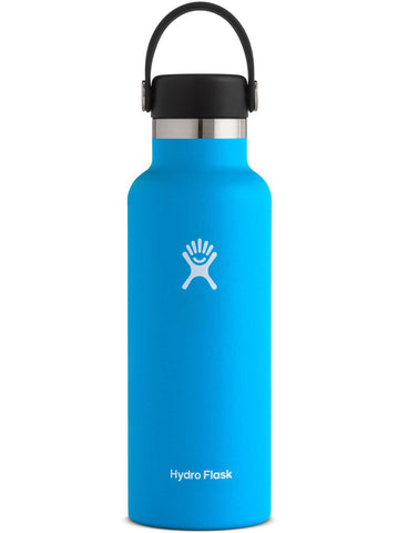 pacific 18 oz standard mouth hydro flask bottle keeps liquids cold for up to 24 hours and hot up to 6. bpa-free