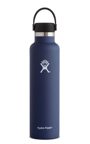 cobalt 24 oz standard mouth hydro flask bottle keeps liquids cold for up to 24 hours and hot up to 6. bpa-free