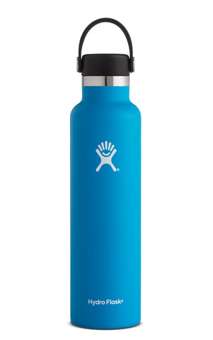 pacific 24 oz standard mouth hydro flask bottle keeps liquids cold for up to 24 hours and hot up to 6. bpa-free