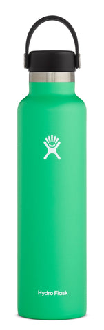spearmint 24 oz standard mouth hydro flask bottle keeps liquids cold for up to 24 hours and hot up to 6. bpa-free