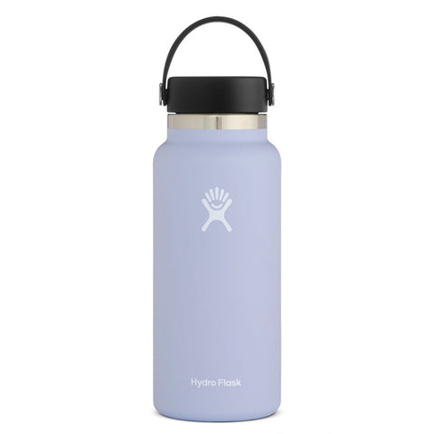 hydro flask fog 32 oz standard mouth bottle keeps liquids cold for up to 24 hours and hot up to 12. bpa-free