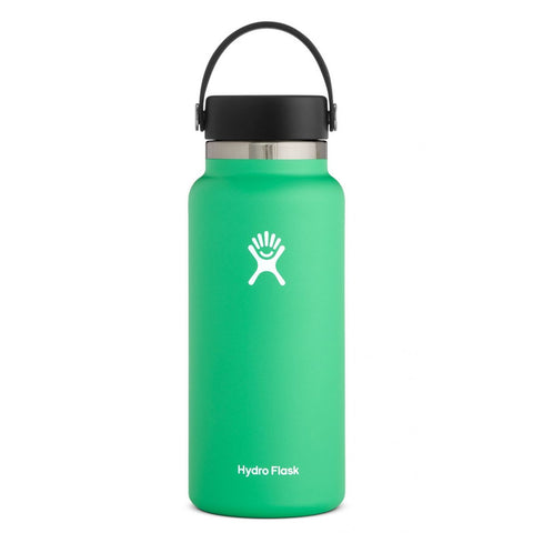 hydro flask spearmint 32 oz standard mouth bottle keeps liquids cold for up to 24 hours and hot up to 12. bpa-free