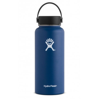 insulated drink bottle 40oz wide-mouth - cobalt