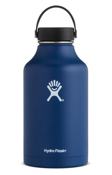 insulated drink bottle 64oz wide-mouth - cobalt