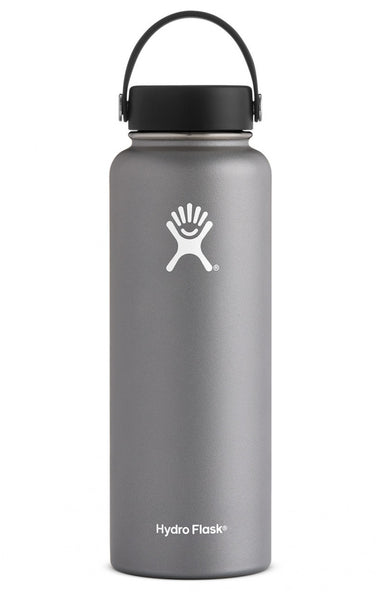 insulated drink bottle 40oz wide-mouth - graphite