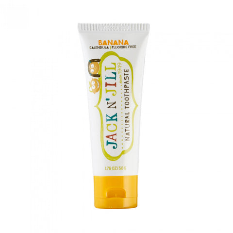 jack n' jill banana flavor natural toothpaste is rich in Xylitol and has calendula to soothe gums with no artificial preservatives