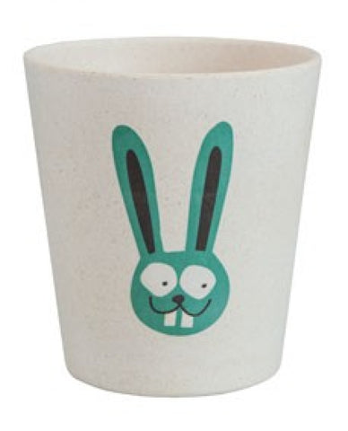 jack n' jill bunny rinse/storage cup is made from bamboo & rice husks. BPA & PVC Free