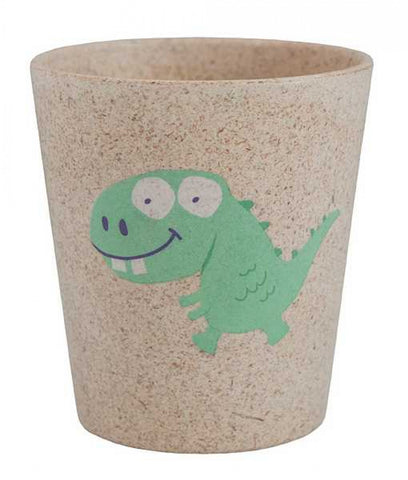 jack n' jill dino rinse/storage cup is made from bamboo & rice husks. BPA & PVC Free