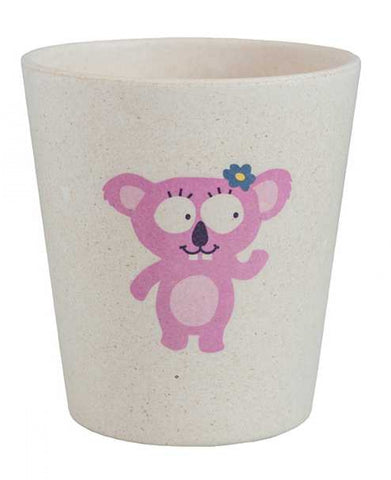 jack n' jill koala rinse/storage cup is made from bamboo & rice husks. BPA & PVC Free