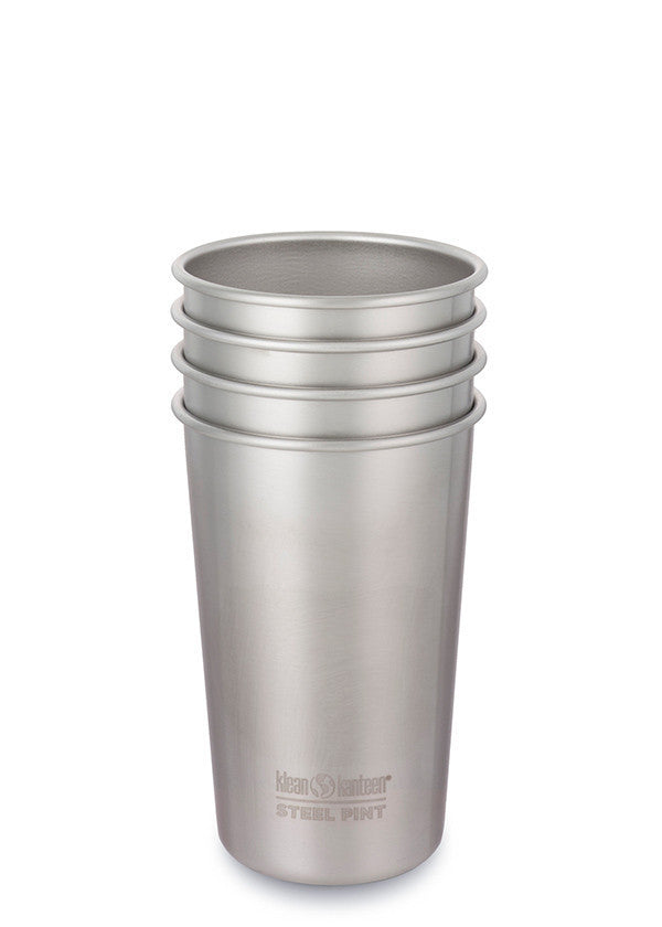 tumbler, non-insulated, box of 4, 16oz brushed stainless