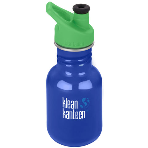 klean kanteen kid classic sport 12oz coastal waters water bottle. bpa & bps free