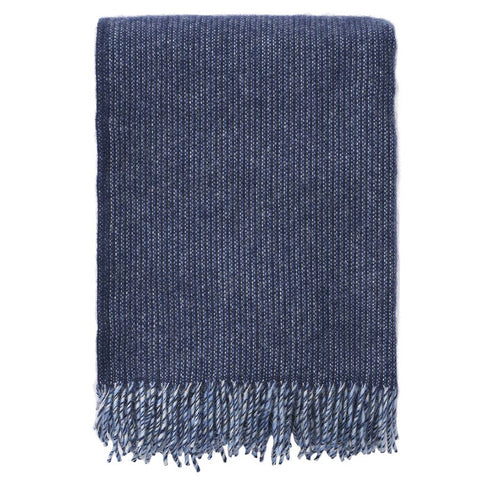 klippan eco lamb's wool throw, blue shimmer