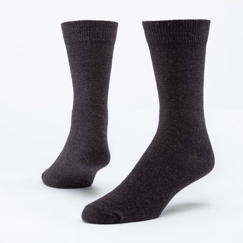 9-11 black maggie's organics organic wool dress sock made in the usa from organic merino wool