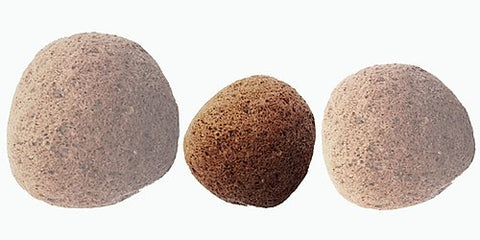maguey weaves natural pumice stone is nature's tool for exfoliating dry, calloused areas of the feet. the natural rose color is attractive and decorative.