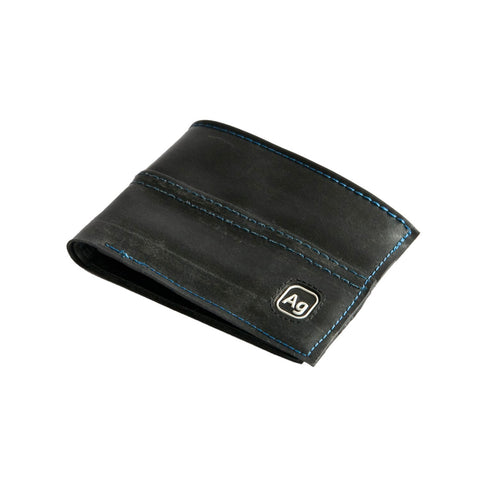 alchemy goods marine stitch franklin wallet is made from recycled inner tubes. made in the USA