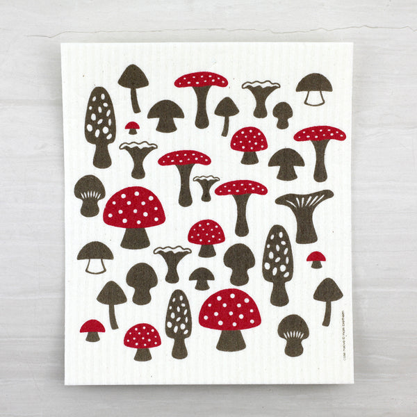 swedish dishcloth - mushrooms