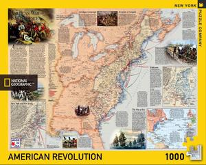 National Geographic Map american revolution is a 1000 Piece Jigsaw Puzzle. Made in USA. Recommended Age: 10+ Years