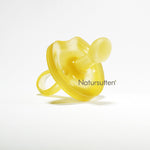 100% natural rubber small (0-6 month) orthodontic butterfly shaped pacifier is molded in one piece & environment friendly