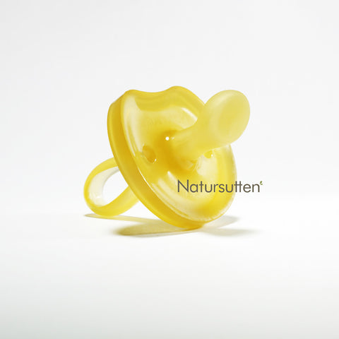 100% natural rubber medium (6-12 month) orthodontic butterfly shaped pacifier is molded in one piece & environment friendly