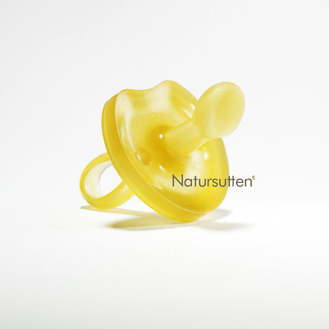 100% natural rubber large (12+ month) orthodontic butterfly shaped pacifier is molded in one piece & environment friendly