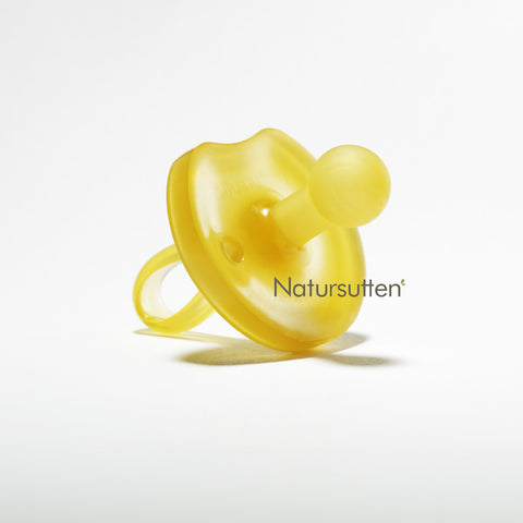 100% natural rubber medium (6-12 month) round butterfly shaped pacifier is molded in one piece & environment friendly