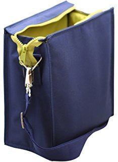 navy insulated lunch tote