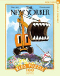 New York Puzzle Companys 100 piece jigsaw puzzle of the New Yorker cover excavation slayer. Made in the USA