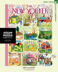 New York Puzzle Companys 1000 piece jigsaw puzzle of the New Yorker cover farm calendar Made in the USA