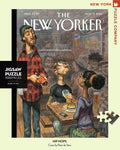 New York Puzzle Companys 1,000 piece jigsaw puzzle of the New Yorker cover hip hops. Made in the USA