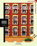 New York Puzzle Companys 1,000 piece jigsaw puzzle of the New Yorker cover hot dogs. Made in the USA