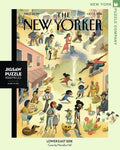 New York Puzzle Companys 1,000 piece jigsaw puzzle of the New Yorker cover lower east side. Made in the USA