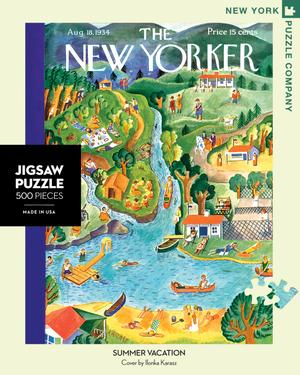 summer vacation, new yorker magazine cover