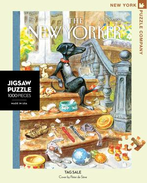New York Puzzle Companys 1,000 piece jigsaw puzzle of the New Yorker cover tag sale. Made in the USA