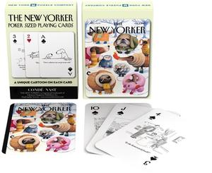 new york puzzle company dog cartoons playing cards new yorker