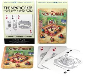 new york puzzle company sports cartoons playing cards new yorker