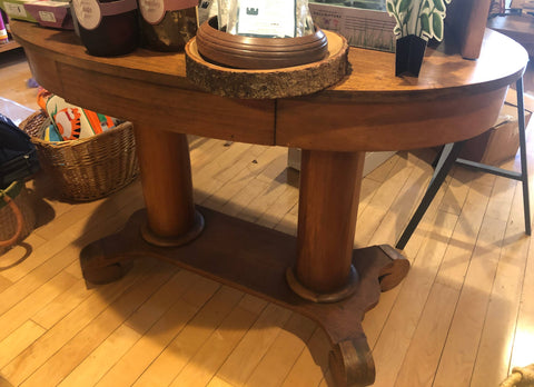 Mahogany empire style oval table sale