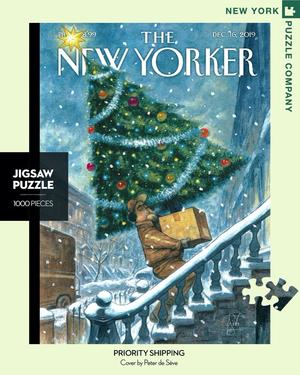 New York Puzzle Companys 1,000 piece jigsaw puzzle of the New Yorker cover priority shipping. Made in the USA