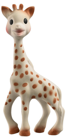 Sophie the Giraffe is a baby teether made out of 100% natural rubber and chemical-free food grade paint. Since 1961