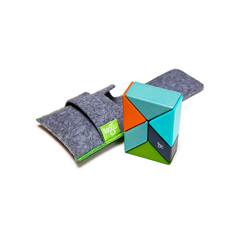 tegu pocket pouch prism magnetic wooden blocks 6 pieces, nelson