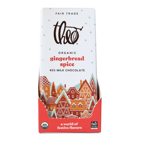 theo chocolate gingerbread spice 45% milk chocolate