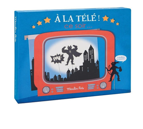 moulin roty, shadow puppets, television shadow box